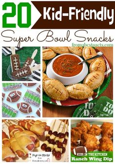 On game day, it's all about the snacks! And with these kid-friendly Super Bowl snack ideas, you'll keep even the littlest of your football fans happy! Healthy Superbowl Snacks, Football Snacks, Football Apps, Football Cupcakes, Football Parties, Football Birthday, Vegan Snacks, Healthy Meals, Healthy Recipes
