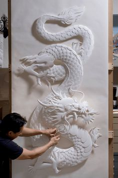 Dragon Paper Sculptures by Jeff Nishinaka.