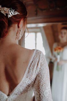 Mirror mirror on the wall... Photo credit: Katrin Kerschbaumer Lace Wedding, Wedding Dresses, Mirror Mirror, Photo Credit, Backless, Mountain, Wall, Fashion, Bride Dresses