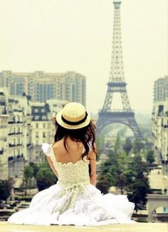Paris in Springtime - this photo could be a grown-up version of my daughter. Would love to take her there one day.