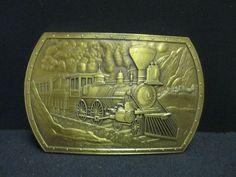 Vintage The General Civil War Steam Engine Belt Buckle Brass Train Locomotive