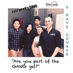"Great week with last week's newest GANG members. Thank you to Sujin, Bernadette, Long and Oshiro for completing the 5 days coffee course. They are now ready for the barista world and definitely part of the GANG. ""Are you part of the GANG yet?"" #thecoffeegang #thecoffeeganginkl #thecoffeeganginfiji #thecoffeeganginhongkong #trubarista #coffee #barista #students #5dayscourse #coffeecourse #baristatraining #sydneybarista #baristacourse #coffeeworld"