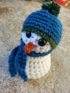 My Frosty little friend here is looking for a good home. Stuffed Crochet Snowman Measures tall and is made out of acrylic yarn, with safety eyes. Crochet Snowman, Making Out, My Etsy Shop, Crochet Hats, Handmade, Stuff To Buy, Amigurumi, Hand Made, Craft