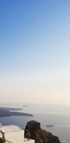 Santorini volcano views