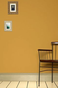 Sudbury Yellow by Farrow and Ball is closest to Benjamin Moore Desert Gold hc-8
