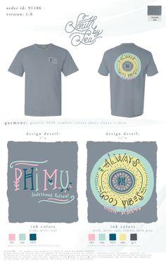 Good Vibes & Good Times #PhiMu #SouthBySea #SororityShirts