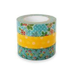Colte Washi Masking Tape  Rose Yellow  Set 3 by craftyjapan, $13.50