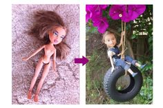 LOVE> We're blown away by the before and after pics of these Bratz dolls, rescued by a mother-daughter team, then restyled to look like adorable little girls.