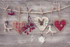 Decorazioni di Natale su sfondo di legno Archivio Fotografico