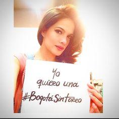 La actriz @piedrahitangela Coordinadora de Figuras Públicas de la @PlataformaALTO también quiere una #BogotáSinToreo