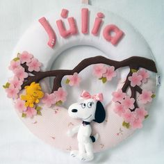 Guirlanda Belle - Irmã do Snoopy                              …