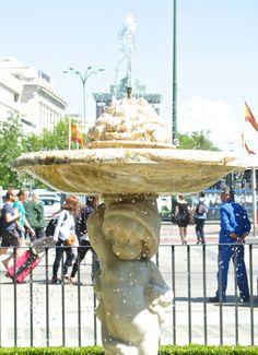 Une fontaine à Madrid.
