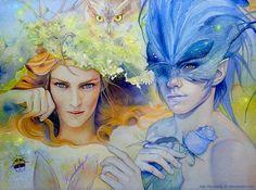 Oberon and Titania by kimberly80.deviantart.com on @DeviantArt
