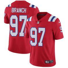 Nike Patriots #97 Alan Branch Red Alternate Men's Stitched NFL Vapor Untouchable Limited Jersey