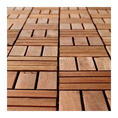 RUNNEN Floor decking, outdoor, brown stained