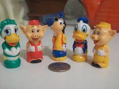Disney figurines by Vintagetoyfun on Etsy, $12.00