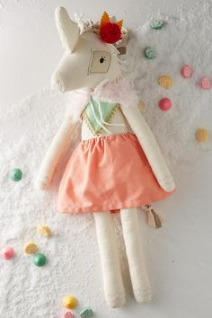 Dainty Cheeks Fancy Lady Unicorn Doll - gifts for baby Unicorn Rooms, Unicorn Doll, Little People, Little Girls, Baby Olivia, 9th Birthday Parties, Unicorns And Mermaids, Leather Projects, Soft Dolls