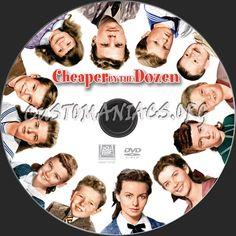 Cheaper by the Dozen 1950   Cheaper by the Dozen (1950) dvd label