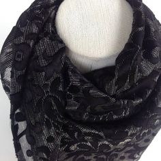 Hey, I found this really awesome Etsy listing at https://www.etsy.com/listing/248866688/black-silk-square-shawl-burnout-silk