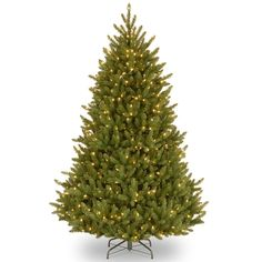 National Tree Company 6.5-ft. Pre-Lit Fraser Fir Artificial Christmas Tree, Green