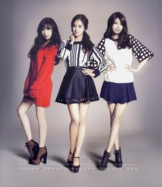 SNSD Tiffany, YuRi and SooYoung / Calendar 2014