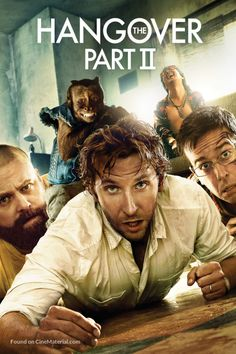 The Hangover Part II (2011) R | 1h 42min | Comedy | 26 May 2011 (USA) - Two years after the bachelor party in Las Vegas, Phil, Stu, Alan, and Doug jet to Thailand for Stu's wedding. Stu's plan for a subdued pre-wedding brunch, however, goes seriously awry.