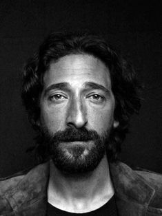 Adrien Brody by Raphael Mazzucco - there is art in that face, like a painting. Adrien Brody, Adam Brody, Black And White Bodies, Black And White Portraits, Black White, Actrices Hollywood, Celebrity Portraits, Interesting Faces, Celebs