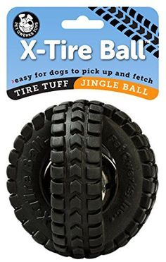 Pet Qwerks Jingle XTire Ball Dog Toy ** Be sure to check out this awesome product.(This is an Amazon affiliate link)