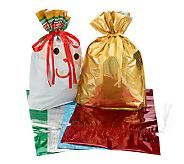 Kringle Express 6-pc Jumbo E-Z Drawstring Holiday Gift Bag Set - H201066