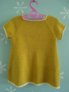 Dress 6 months-6/8 years Garn-iture knitting design. Pattern & yarn available at www.garn-iture.dk