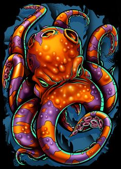 Octopus Fall 2012 Art Print by Landon L. Armstrong | Society6