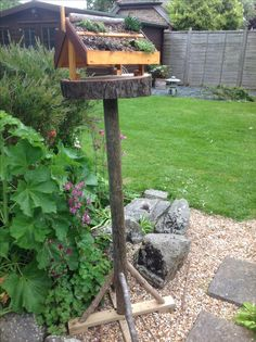 My home made bird table