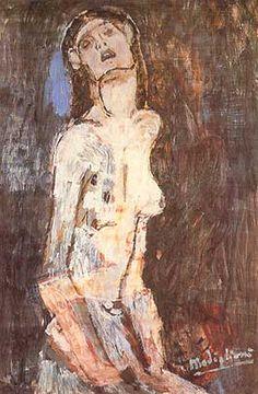 """Artdreamguide: Amedeo Modigliani, """"Nudo dolente"""", ca 1908, Collezione ..."""