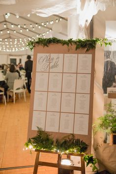 Plan de table - Mariage rock'n'roll - Monsieur Plus Madame (M+M)  www.monsieurplusmadame.fr