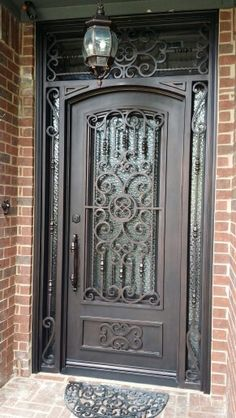 Hand forged, wrought iron door. Designed by me, created by Love That Door