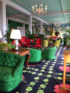 During my hotel design lectures to my interior design students, I use the Grand Hotel on Mackinac Island in Lake H. Mackinac Island Michigan, Michigan Travel, Mackinaw City, Lake Huron, Grand Hotel, Colorful Decor, Beautiful Homes, Vacation, The Greenbrier