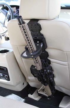 Rackbone LE - lockable gun rack for vehicles