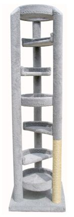 Elevator Cat Tree: Over 7 feet of climbing room to play on and scratch.