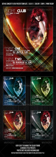 Gothic Night Club Party / Concert Flyer / Poster