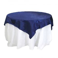 Satin Table Overlay 72 x 72 - Navy Blue [404078] : Wholesale Wedding Supplies, Discount Wedding Favors, Party Favors, and Bulk Event Supplies