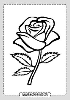 Printable Plant Coloring Pages - Free Coloring Sheets Rose Coloring Pages, Free Coloring Sheets, Printable Coloring Sheets, Stencil Rosa, Rose Stencil, Perennial Flowering Plants, Leather Tooling Patterns, Pink Plant, Flower Tattoos
