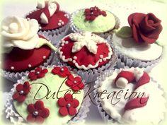 Dulce navidad en cupcakes.