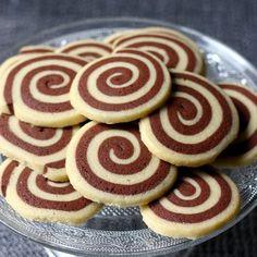 Sablé spirale à la vanille et au chocolat