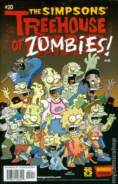 Treehouse of Horror (1995) 20 the Simpsons Bart Homer Lisa Marge Zombies Maggie Halloween Holiday special walking dead