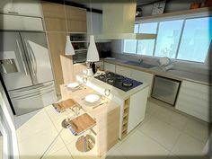 O cuidado para projetar uma cozinha é quase uma arte. O espaço precisa ser funcional acima de tudo, mas também agradável. Às vezes, é tanto detalhe e tanta