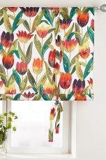 Jotex Vit TULPAN roll up-gardin Printed Shower Curtain, Curtains, Prints