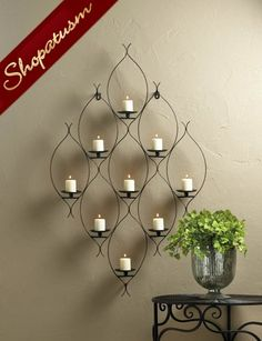 The article Chic Wrought Iron Wall Candle Holders You Will Admire, have full attraction. You have our free advice for house wall decoration ideas. Candle Wall Decor, Iron Wall Decor, Frame Wall Decor, Frames On Wall, Candle Sconces, Wall Décor, House Wall, Wall Art, Nautical Candle Holders