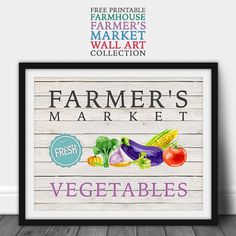 It's Free Printable Friday here at The Cottage Market and we have a fabulous Free Printable Farmhouse Farmer's Market Wall Art Collection 12 In all...I know you are going to love them all!