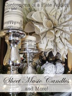 CONFESSIONS OF A PLATE ADDICT Easy Pottery Barn Inspired Music Candles...and More!