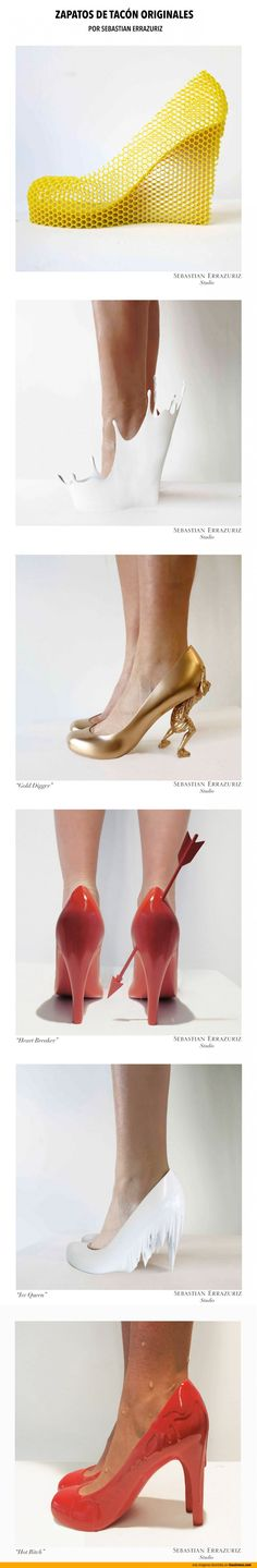 Los zapatos de tacón más originales.   Imágenes por Sebastian Errazuriz.